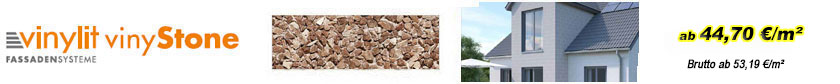 Fassadenverkleidungen - vinyStone-Quaderfassadenprofil 400