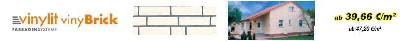 Fassadenverkleidungen - vinyBrick Fassadenelemente
