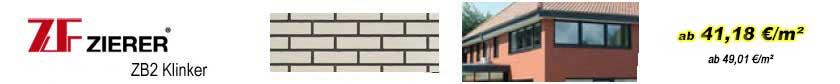 Fassadenverkleidungen - Zierer Klinkerfassaden ZB2 Längsklinker