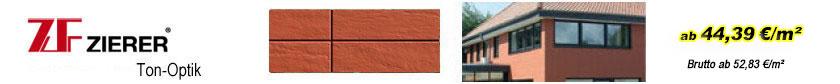 Fassadenverkleidung Klinker - Zierer Ton-Optik Terra