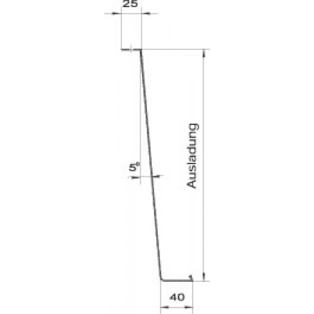 aluminium fensterbank gs 40 wei fassaden kaufen. Black Bedroom Furniture Sets. Home Design Ideas